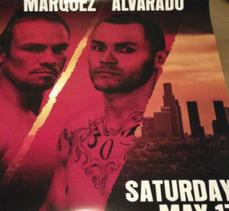 Juan Manuel Marquez vs. Mike Alvarado poster print 5/17/2014 The Forum LA boxing