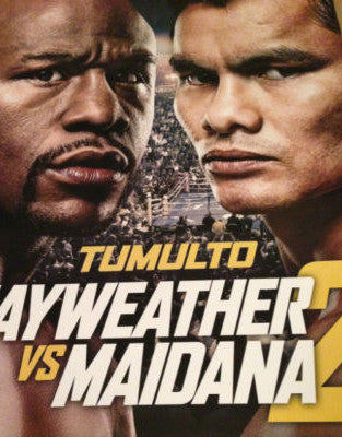 Mayweather vs. Maidana 2 poster print 9/13/2014 fight at the MGM Grand Las Vegas