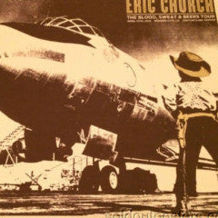 Eric Church - 2012 poster print Third Alert Designs Bossier City signed and #'ed