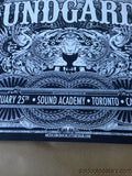 Soundgarden - 2013 Jared Conner poster print Toronto Canada night 1 one S/N