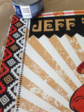 Jeff Tweedy - Nate Duval poster print AP metallic gold Signed and numbered
