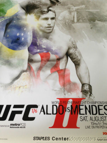 UFC 176 poster print Aldo vs. Mendes Staples Center MMA PPV