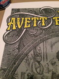 The Avett Brothers - 2013 Mathias Valdez poster print Somerset, WI S/N