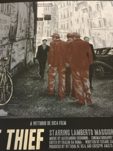 The Bicycle Thief - XUL1349 poster print Regular English version FAMP art
