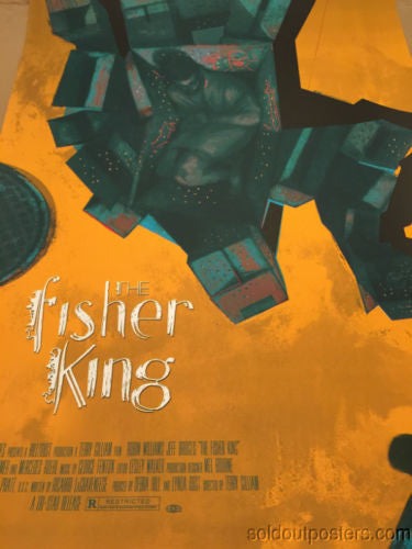 The Fisher King - 2014 Sterling Hundley poster print Mondo-Con 1st edition #d