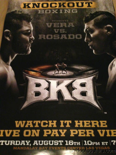 BKB Big Knockout Boxing Vera vs Rosado poster print Mandalay Bay