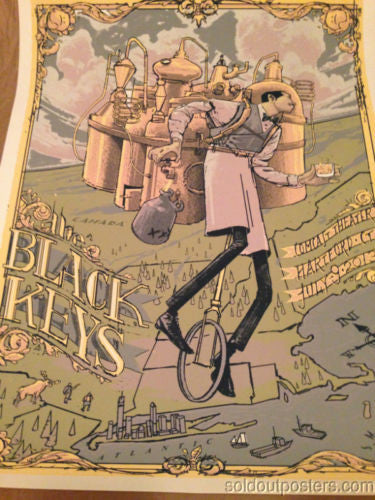 The Black Keys - 7/9/2013 Rich Kelly poster print Hartford CT Comcast Center S/N