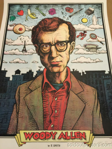 Woody Allen - 2013 Jon Smith poster print The Humorist Gallery 1988