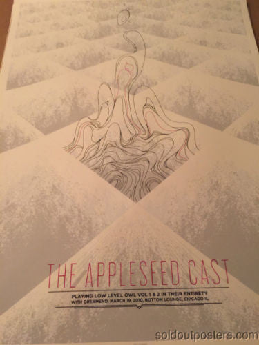 The Appleseed Cast - 3/19/2010 Delicious Design poster print Chicago, IL Bottom