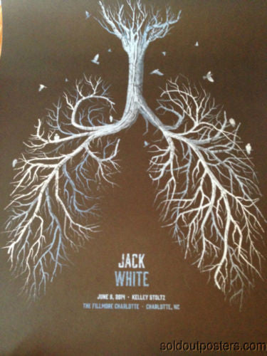 Jack White - 2014 DKNG poster print 1st edition The Fillmore, Charlotte, NC
