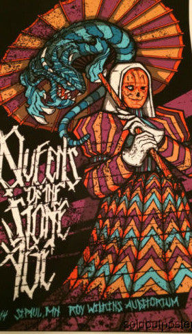 Queens of the Stone Age - 2014 poster print Brad Klausen St Paul MN QOTSA
