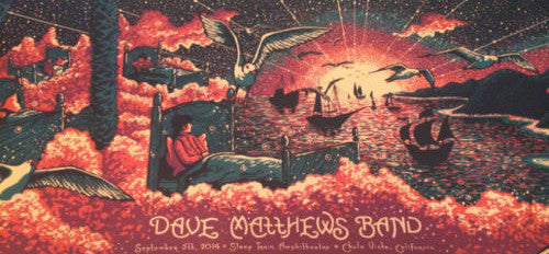 Dave Matthews Band - 2014 James Eads Chula Vista poster print Sleep Train AP