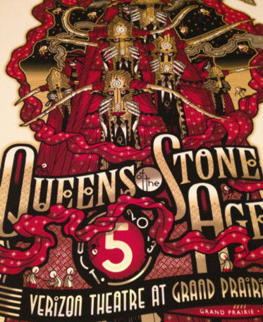 Queens of the Stone Age - 2013 Guy Burwell Poster Grand Prarie, TX