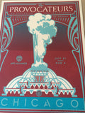 Shepard Fairey 2014 Provocateurs Chicago poster print Art Alliance BLUE OBEY S/N