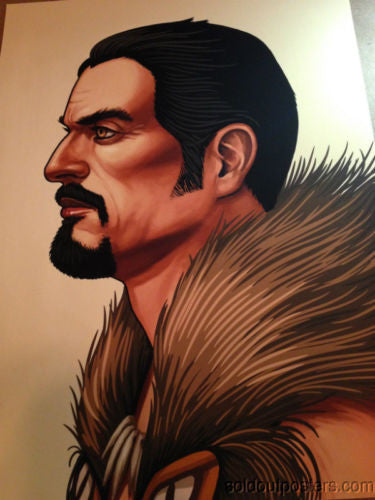 Kraven - 2014 Mike Mitchell poster print signed and #'d MONDO Static Medium