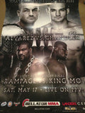 Alvarez vs Chandler Rampage vs King MO Bellator MMA poster print Landers center