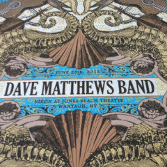Dave Matthews Band - 2013 Nate Duval poster print Jones Beach Wantagh DMB