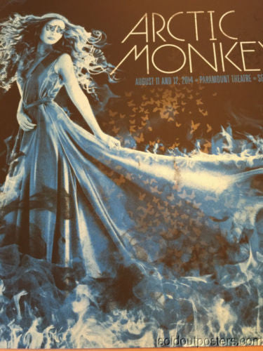 Arctic Monkeys - Todd Slater poster print Seattle, WA Paramount Theatre AP BLUE