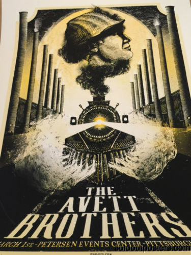 The Avett Brothers - 2014 Zeb Love poster Pittsburgh, PA Petersen Events Center
