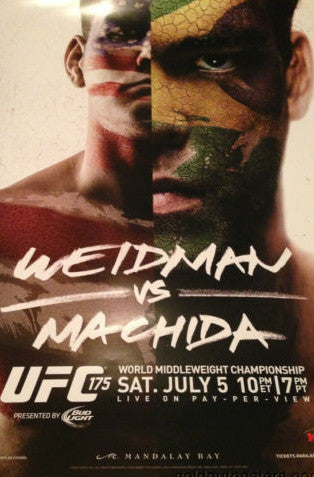UFC 175 Weidman vs. Machida 7/5/2014 World Middle Weight Championship poster