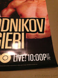 Provodnikov vs. Algieri 2014 poster print HBO Boxing after dark 6/14/2014