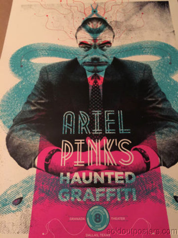 Ariel Pink's  - Delicious Design poster print Chicago IL Haunted Graffiti Dallas