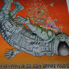Coachella - 2014 EMEK Indio SUNSET GLITTER FOIL poster print signed numbered