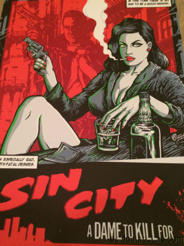 Sin City 2014 FugScreen Studios poster print A dame to kill for Cristiano Suarez