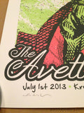 The Avett Brothers - 2013 Mathias Valdez poster print Interlochen, MI S/N