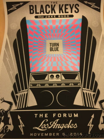 The Black Keys - Shepard Fairey poster print Los Angeles, CA Forum SIGNED #'d