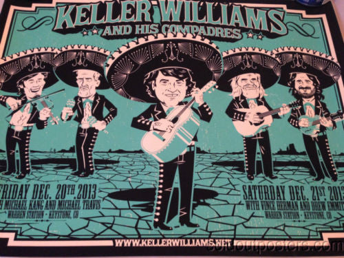 Keller Williams String Cheese Incident Leftover Salmon poster print Darin Shock