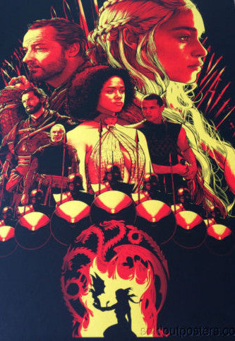 Game of Thrones House Targaryen - Joshua Budich poster print SIGNED #'d/200