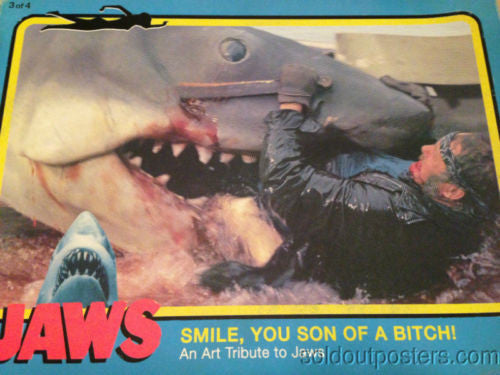 Jaws - Smile You Son of a Bitch poster Movie Print