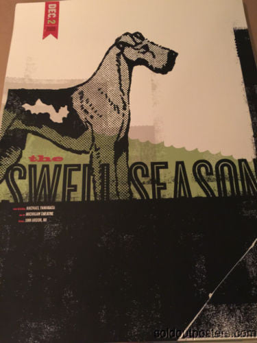 Swell Season - 2009 Delicious Design poster print Michigan Theatre Ann Arbor MI
