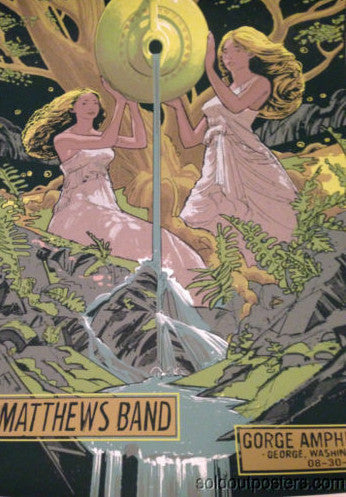 Dave Matthews Band - 2014 Rich Kelly poster SIGNED George Amphitheatre WA DMB