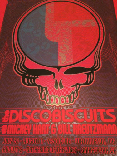 The Disco Biscuits Dave Hunter poster print Washington DC Mickey Hart RED MATTE