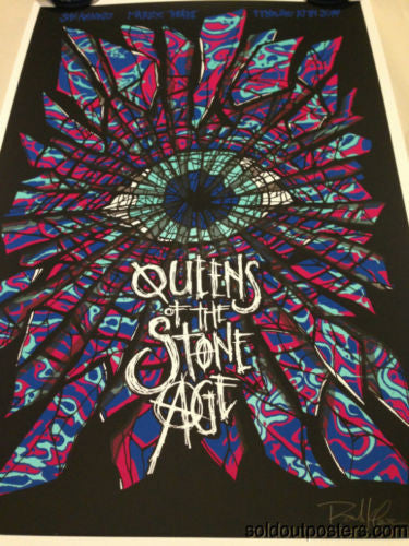 Queens of The Stone Age - 2014 Brad Klausen San Antonio Signed #'d poster