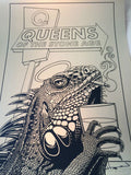 Queens of the Stone Age - 2014 Justin Hampton poster print QOTSA Portland, GOLD