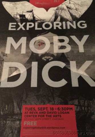 Exploring Moby Dick  - Delicious Design poster print Chicago, IL David Logan Art