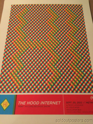 The Hood Internet - 2014 Delicious Design poster print Chicago, IL Metro
