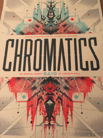 Chromatics  - Delicious Design poster print Chicago, IL Lincoln Hall Pitchfork