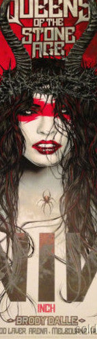 Queens of the Stone Age - 2014 Rhys Cooper poster NIN QOTSA Rod Laver Melbou