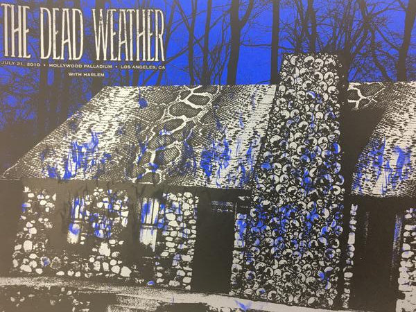 The Dead Weather - 2010 Todd Slater Poster Hollywood, CA Hollywood Palladium