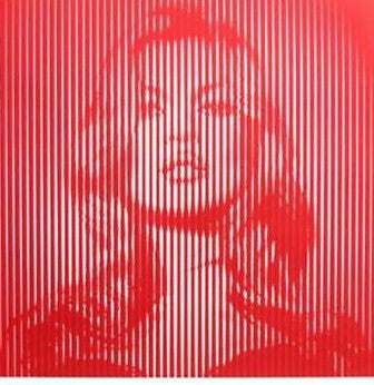 Fame Moss Kate Moss - 2015 Mr. Brainwash poster print RED ON RED ed of 65 MBW