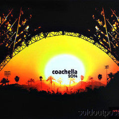 Coachella - 2014 Kii Arens poster print artist proof hand signed NO Emek, Doyle