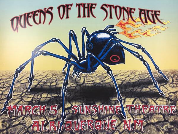 Queens of the Stone Age - 2003 EMEK Poster Albuquerque, NM Sunshine Theatre