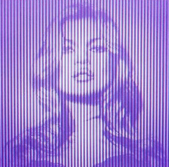 Fame Moss Kate Moss - 2015 Mr. Brainwash poster print CYAN ON MAGENTA ed of 65