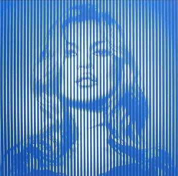 Fame Moss Kate Moss - 2015 Mr. Brainwash poster print BLUE ON BLUE ed of 65 MBW