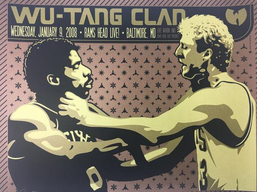 Wu-Tang Clan - 2008 Todd Slater Poster Baltimore, MD Ram's Head Live