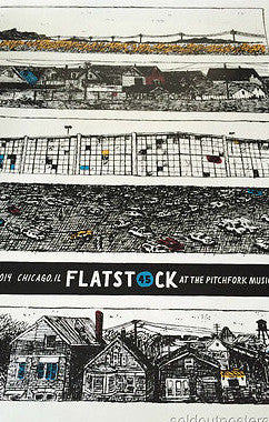 Flatstock - 2014 poster print for Pitchfork Music Festival in Union Park Chicago